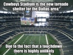 Cowboys Stadium Is The New Tornado Shelter...