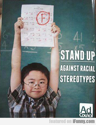 stand up against racial stereotypes