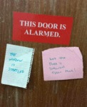 This Door Is Alarmed...