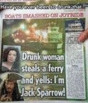 Drunk Woman Steals A Ferry And Yells: I'm Jack...