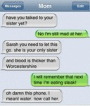 Have You Talked To Your Sister Yet?