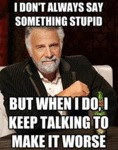 I Don't Always Say Something Stupid...