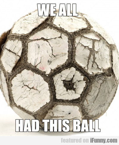 we all had this ball