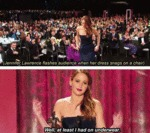 Jennifer Lawrence Flashes Audience When Her...
