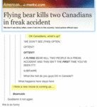Flying Bear Kills Two Canadians...