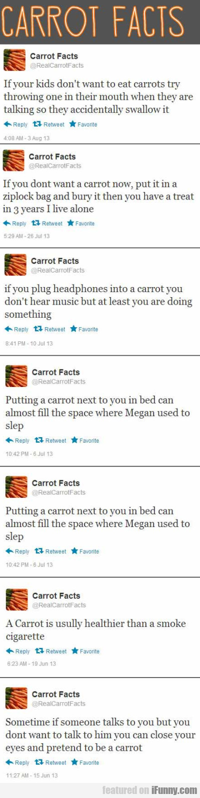 Carrot Facts - If Your Kids Don't Want To Eat...
