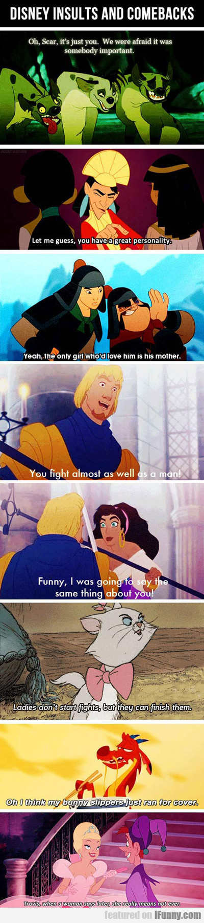 Disney Insults And Comebacks...