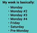 My Week Is Basically: Monday, Monday #2...
