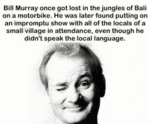 Bill Murray Once Got Lost In The Jungles Of Bali..