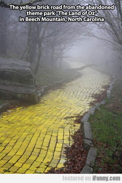 the yellow brick road from the abandoned theme...