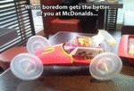 When Bordem Gets The Best Of You At Mcdonald's...