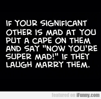 If Your Significant Other Is Mad At You...