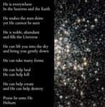 He Is Everywhere, In The Heavens And The Earth