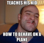Teaches His Kid How To Behave On A Plane...