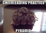 Cheerleading Practice Pyramid.