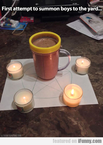first attempt to summon boys to the yard...