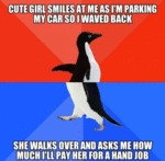 Cute Girl Smiles At Me As I'm Parking...