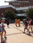 These Guys Were On Campus Shouting Hump Day