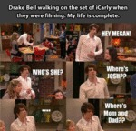 Drake Bell Walking On The Set Of Icarly...