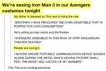 We're Seeing Iron Man 3 In Our Avengers Costumes..