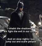 I Inhabit The Shadows And Fight The Evil In Our...