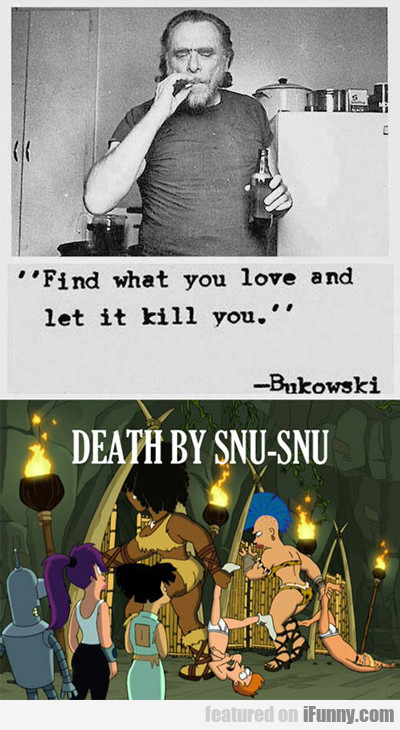 Find What You Love And Let It Kill You...