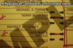 A Republican Candidate's Unfortunate Name...
