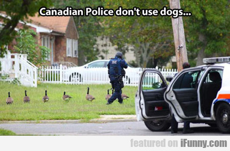 canadian police don't use dogs...