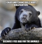 I Enjoy Watching Bulls Hurt Bullfighters...