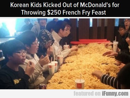 Korean Kids Kicked Out Of Mcdonald's For...