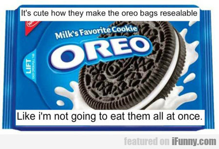 it's cute how they make the oreo bags...