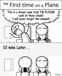 The First Time On A Plane