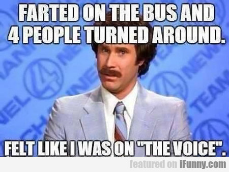farted on the bus and 4 people turned around...