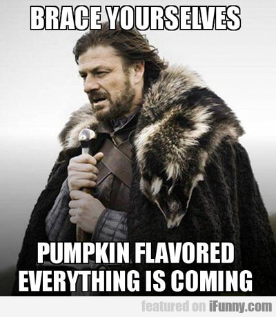 brace yourselves, pumpkin flavoured everything...