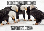 Freedom Huddle, 'merica On 3