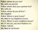 Police: Where Do You Live?
