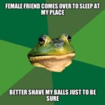 Female Friend Comes Over To Sleep At My Place...