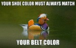 Your Shoe Color Must Always Match Your Belt Color
