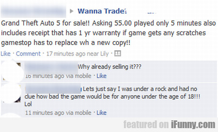 Grand Theft Auto 5 For Sale!