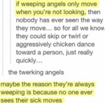 If Weeping Angels Only Move