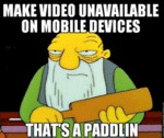 Make Video Unavailable On Mobile Devices...