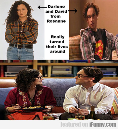 Darlene And David From Roseanne...