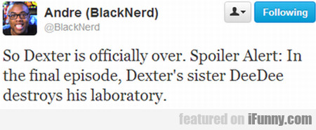 So Dexter Is Officially Over
