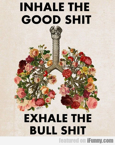 Inhale The Good Shit, Exhale The Bull Shit...