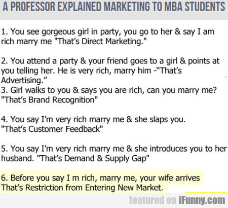 A Professor Explained Marketing To Mba