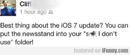 Best Thing About The Ios 7 Update?
