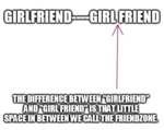 Girlfriend Vs Girl Friend
