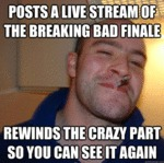 Posts A Live Stream Of The Breaking Bad Finale...
