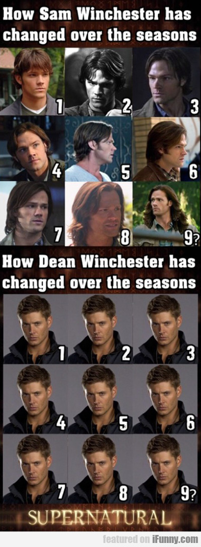 how sam winchester has changed over the...