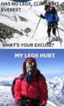 Has No Legs, Climbs Mount Everest...